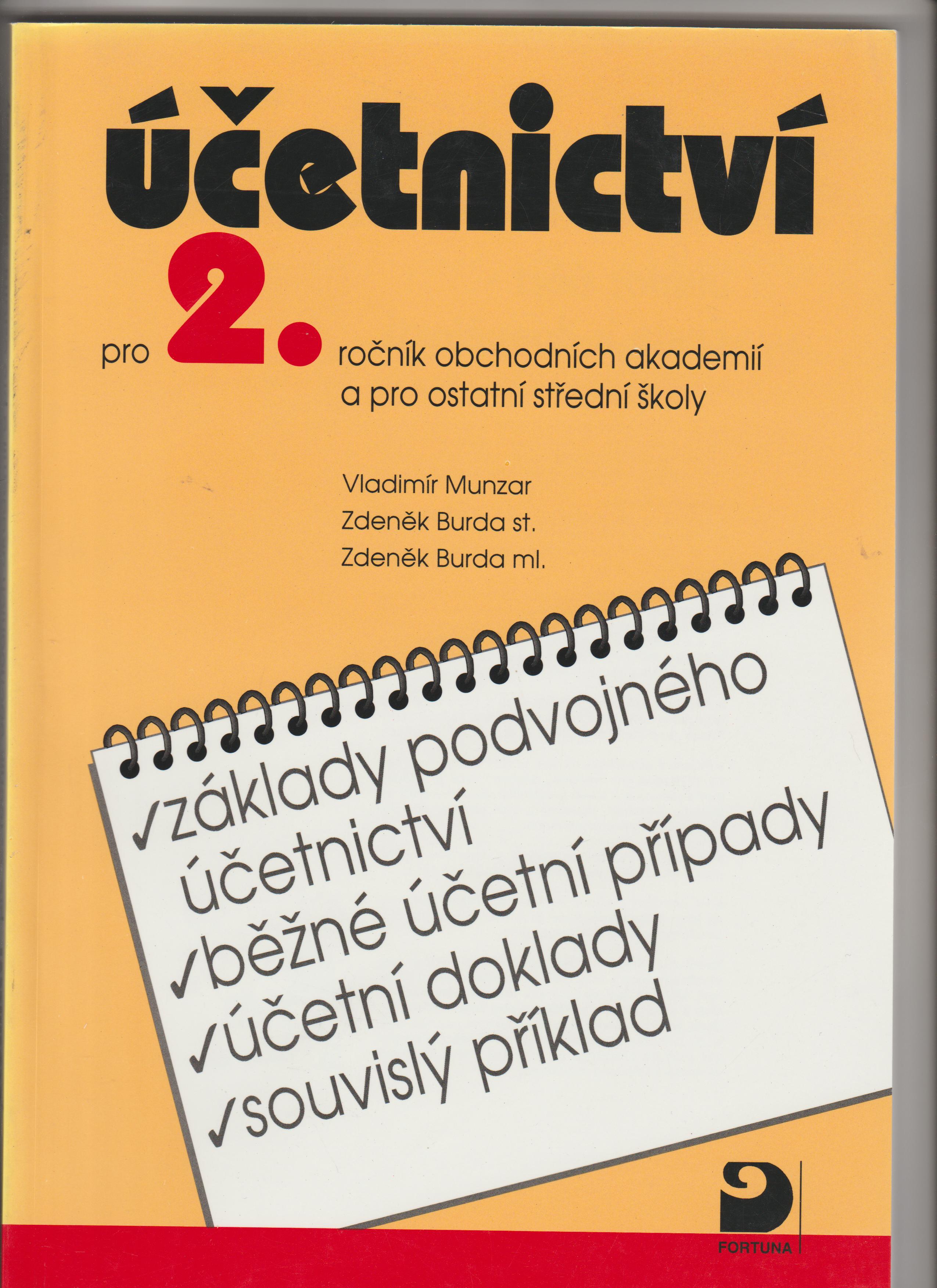 Účetnictví - Vladimír Munzar, Zdeněk Burda ml., Zdeněk Burda st.