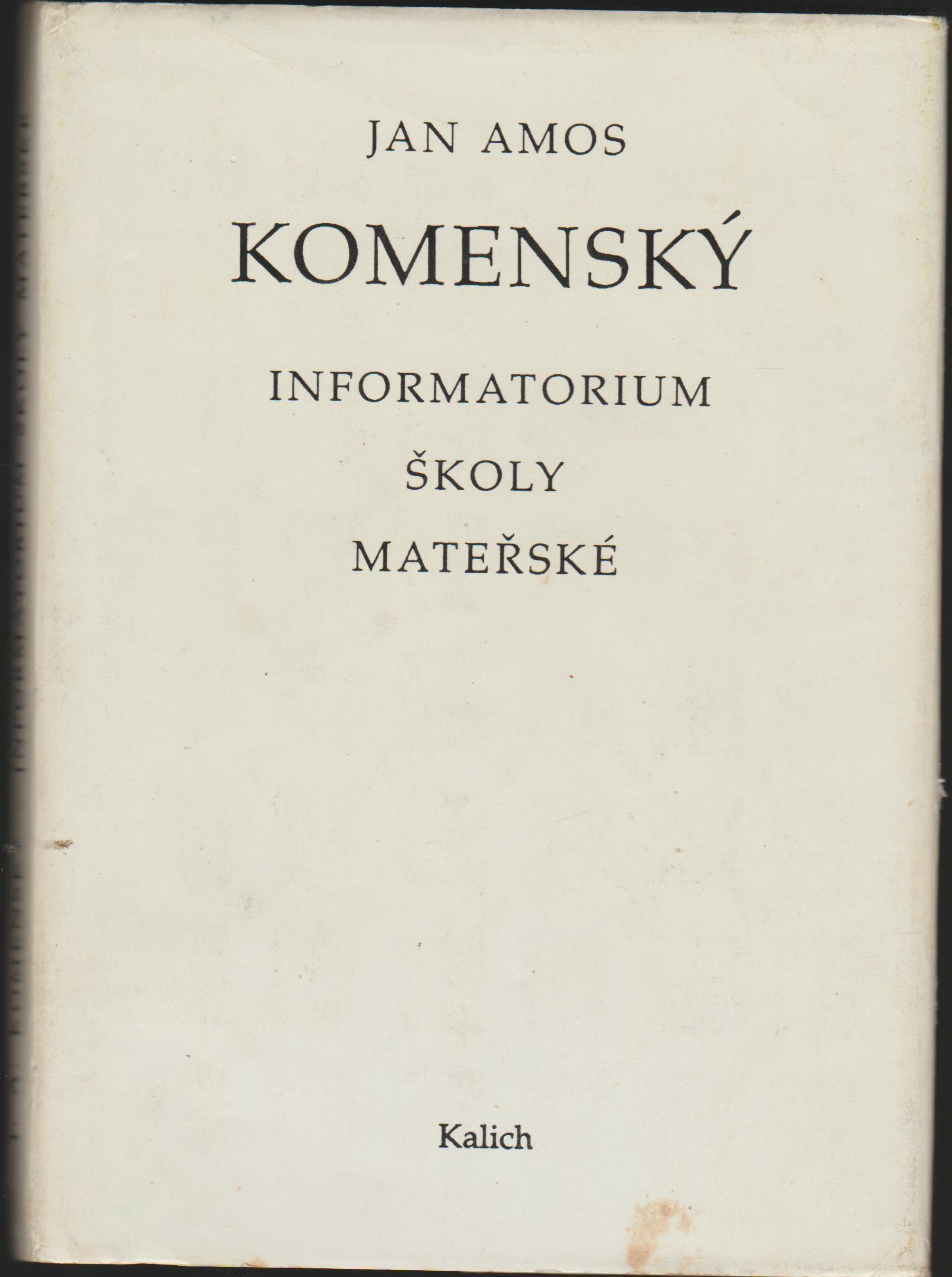 Informatorium školy mateřské - Jan Amos Komenský
