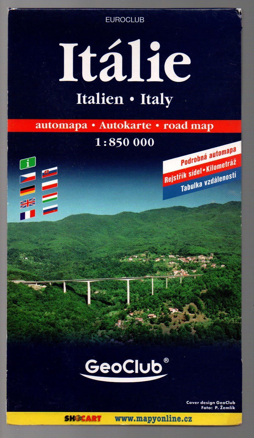 Itálie - automapa - 1 : 850 000