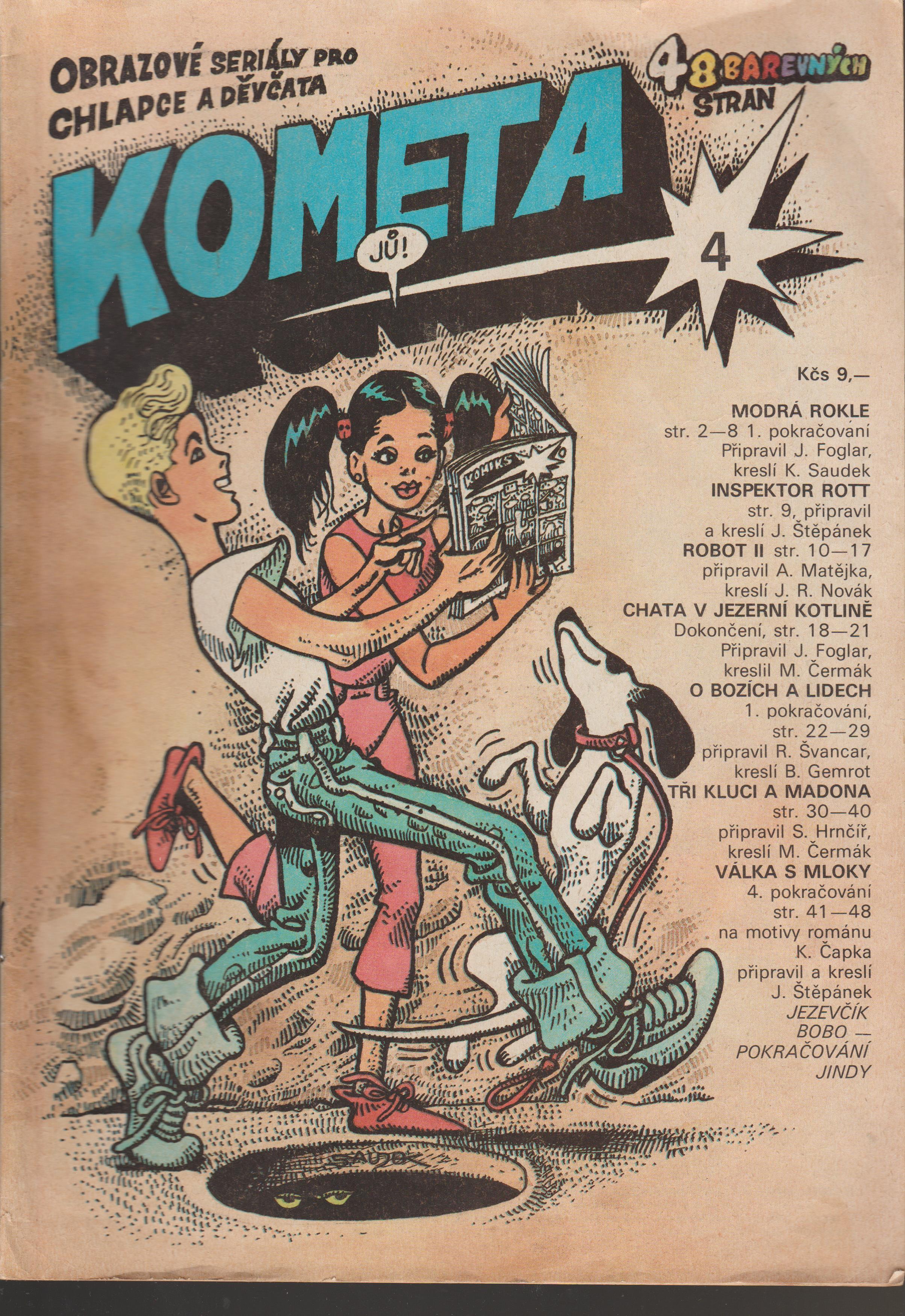 Časopis Kometa č.4 - K. Saudek, J. Foglar a další