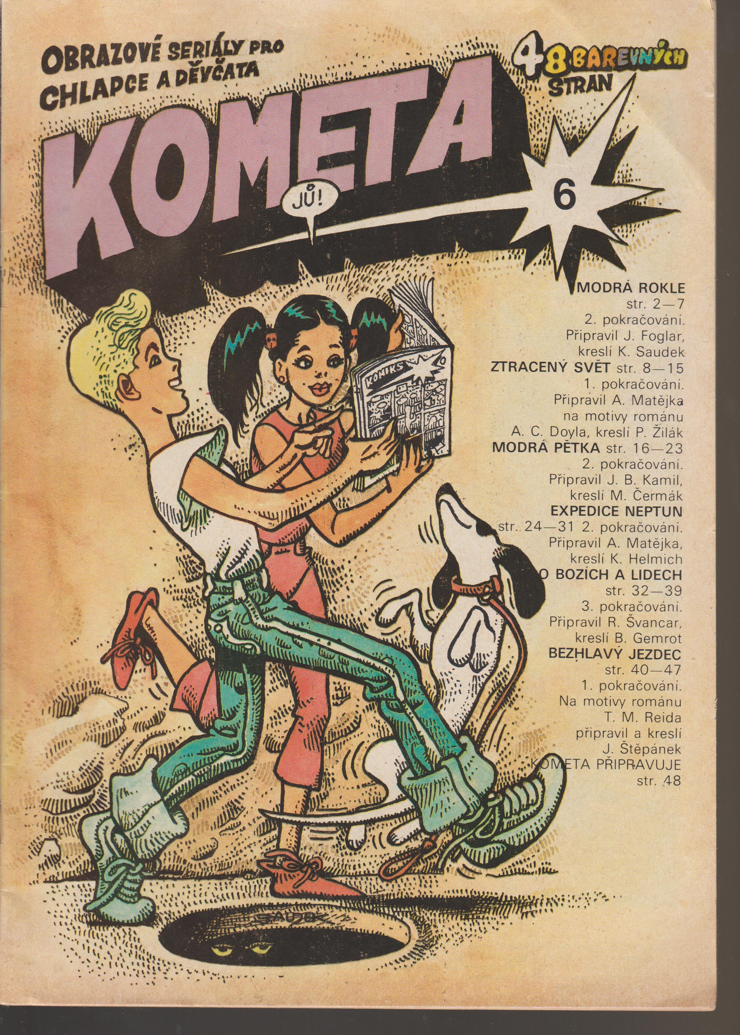 Časopis Kometa č.6 - K. Saudek, J. Foglar a další