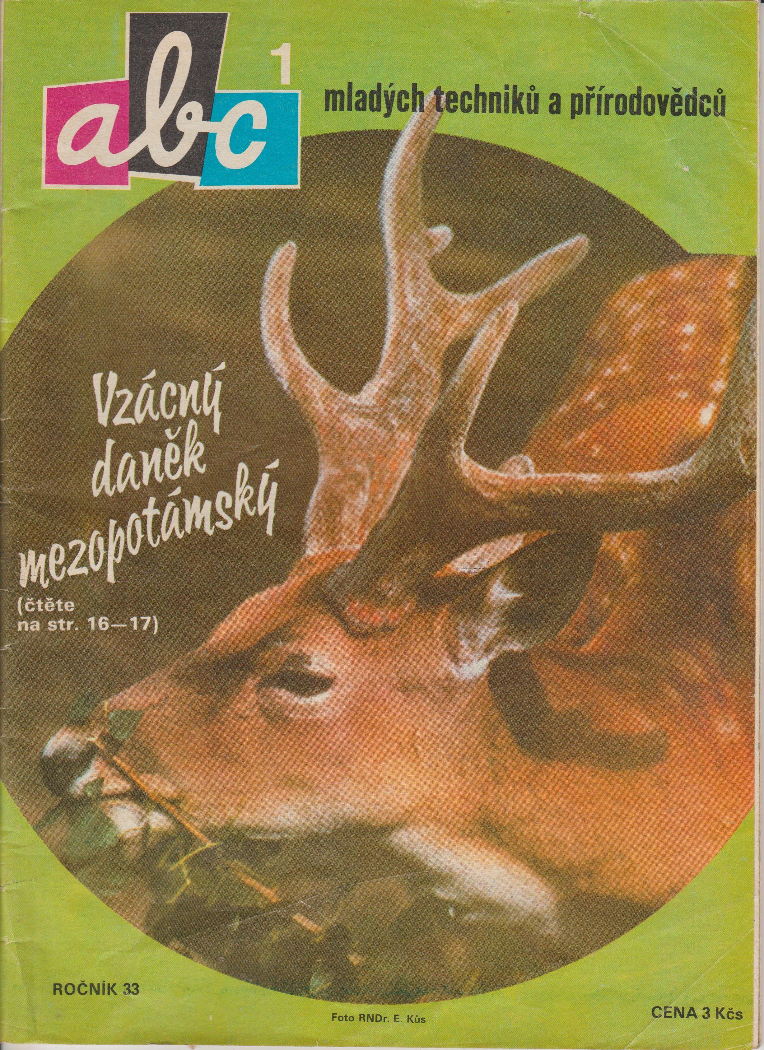 ABC časopis mladých techniků a přírodovědců - 33. ročník/1. číslo