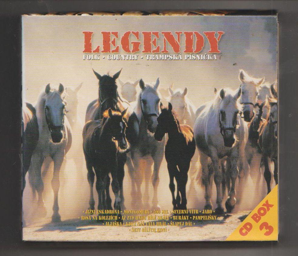 Legendy - Folk - Country - Trampská písnička - soubor 3 CD - (písničky viz foto))