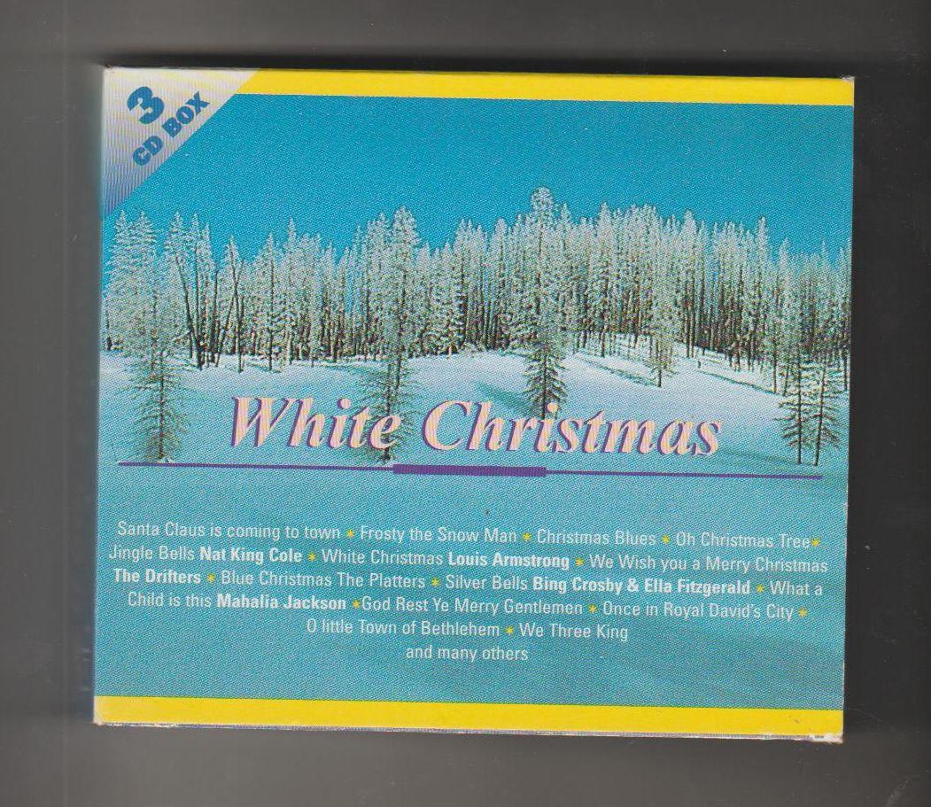 White Christmas - BOX 3 CD - soubor tří CD s americkou vánoční hudbou (Seznam písní a skladem - viz foto)