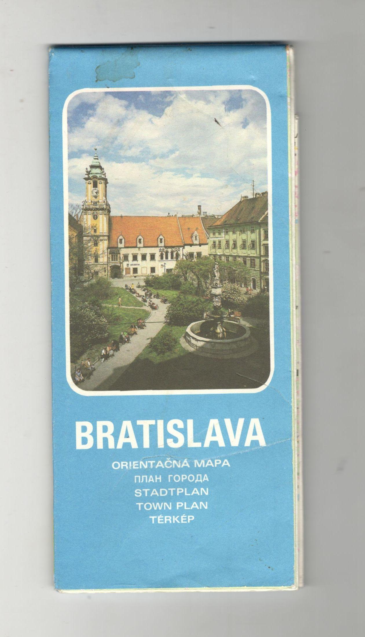 Bratislava - orientačná mapa ( slovensky, rusky, německy, anglicky, maďarsky)