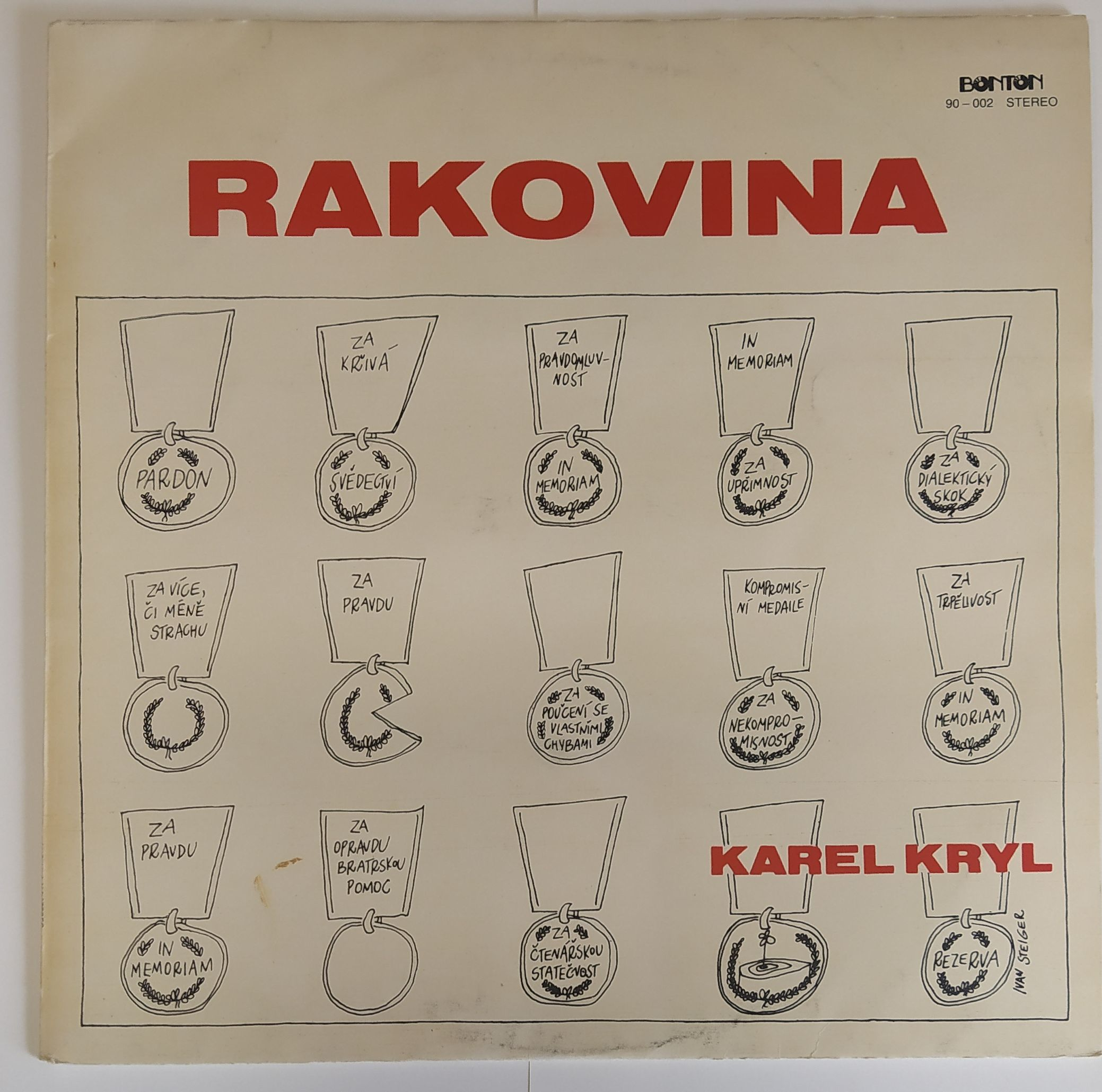 Rakovina - Karel Kryl (LP)