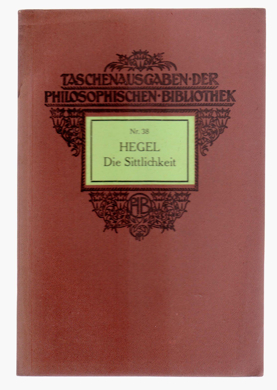 Taschenausgaben der Philosophischen Bibliothek - Hegel, Schiller, Herder, Kant