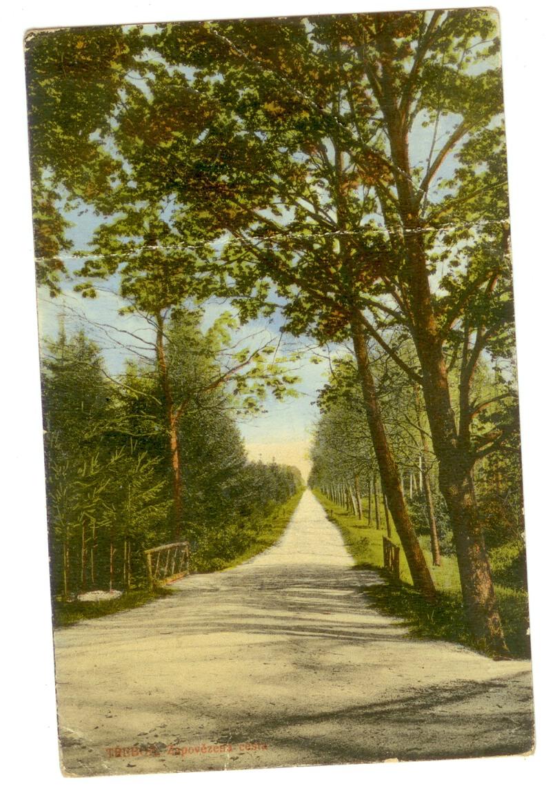 Pohled - Třeboň - Zapovězená cesta