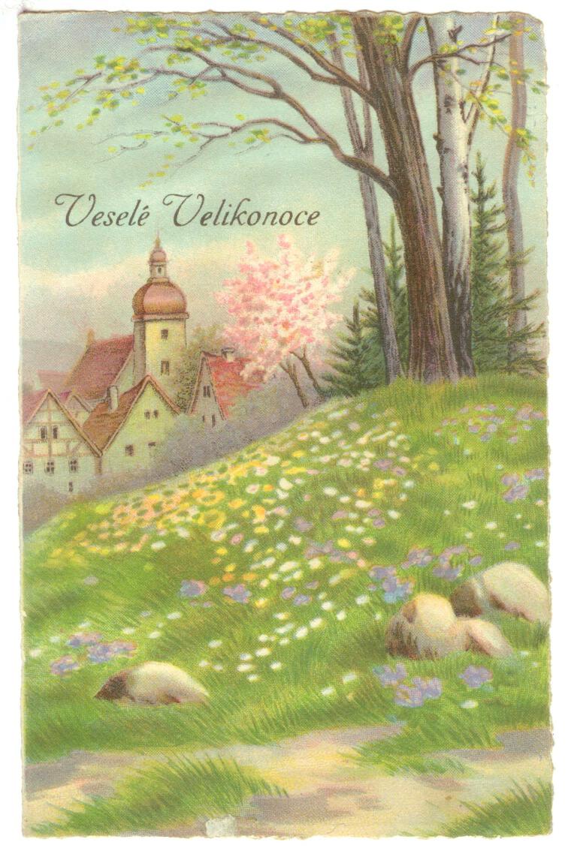 Pohled - Veselé Velikonoce