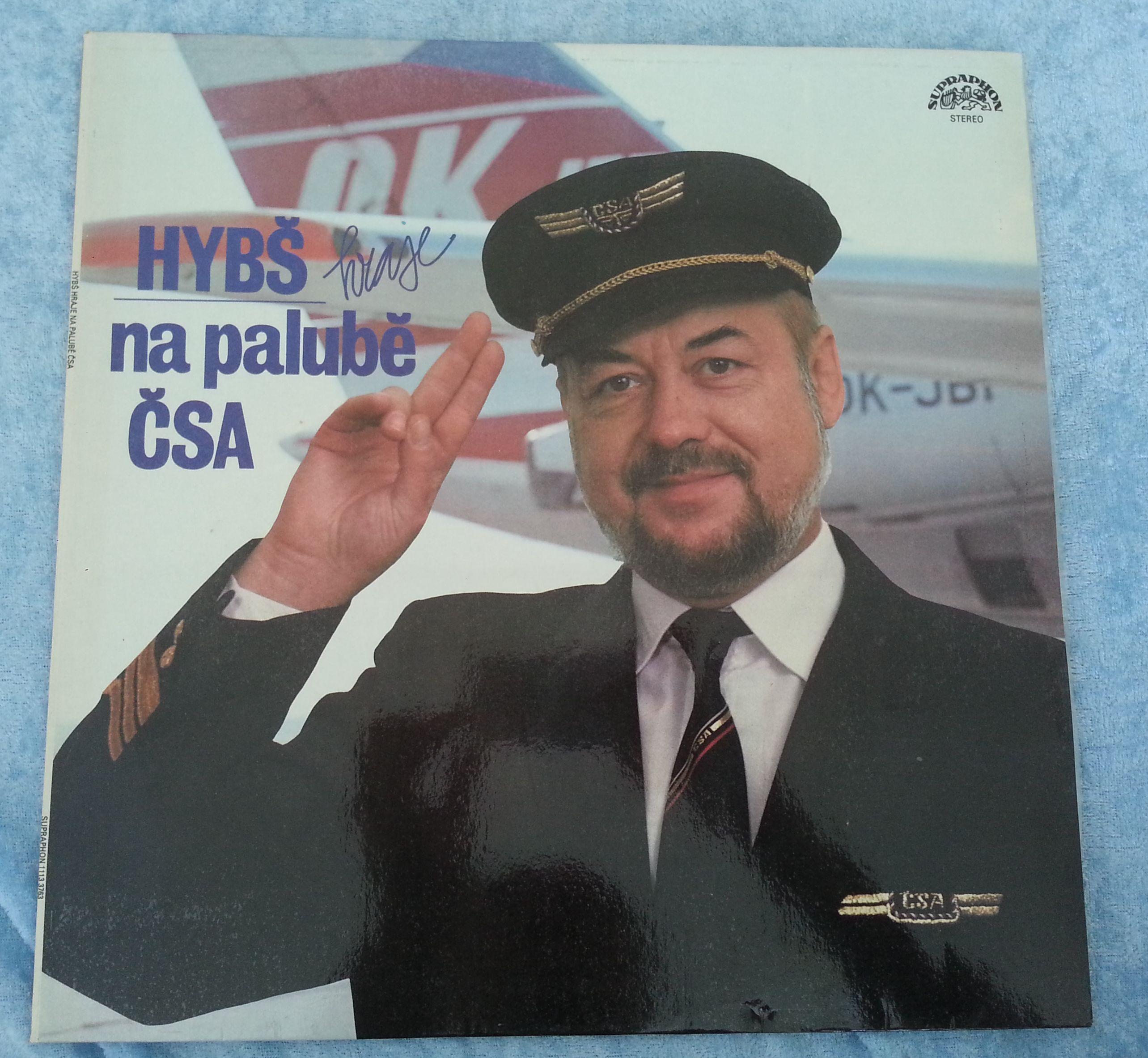 Hybš hraje na palubě ČSA - Václav Hybš se svým sborem (gramodeska)
