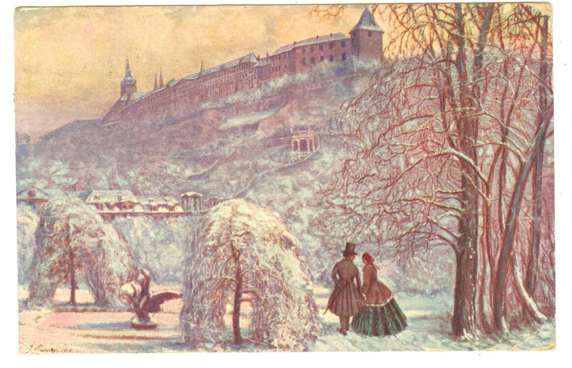 Pohled - Dopisnice Komenského - vánoční pozdrav!