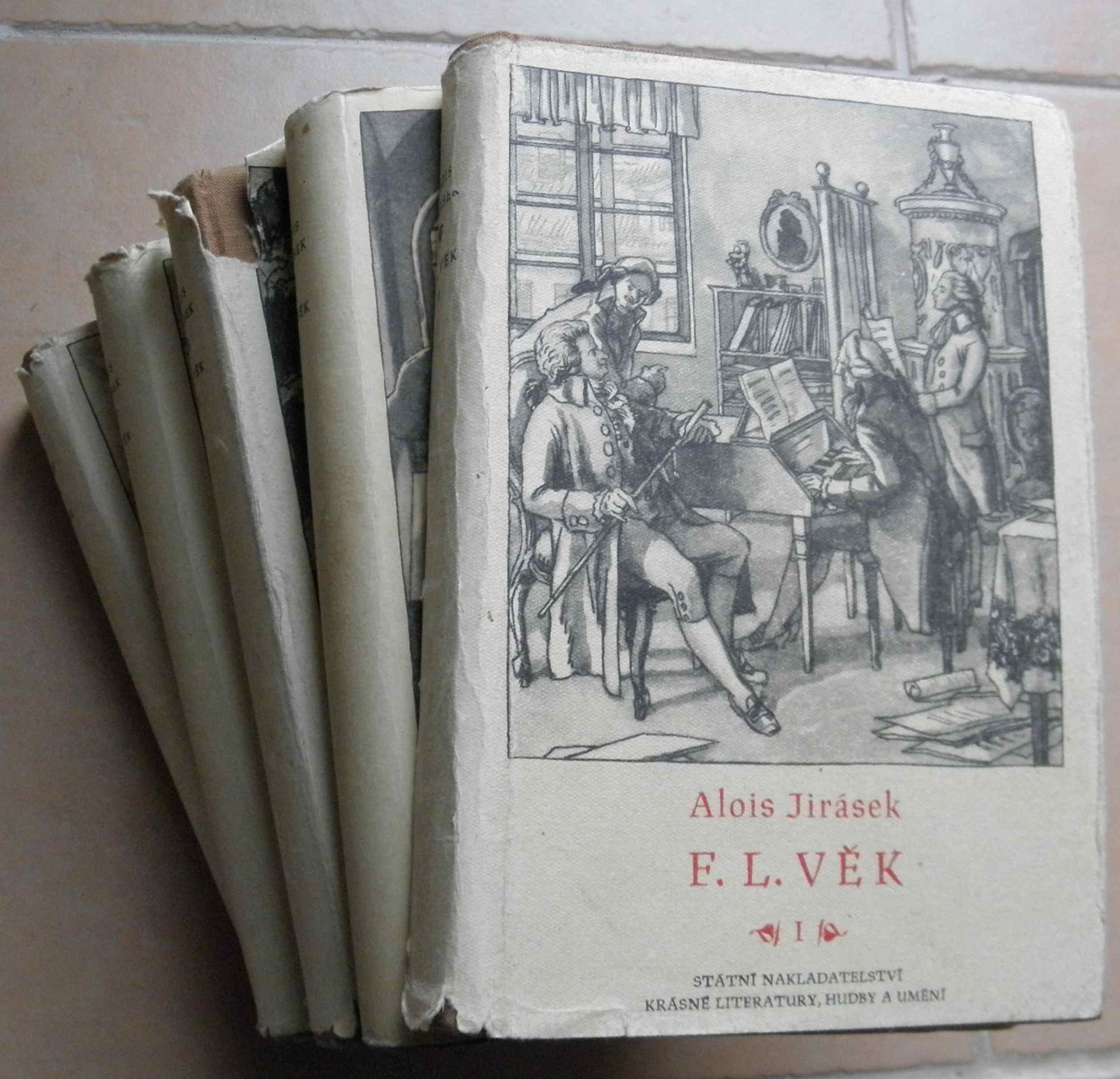 F. L. Věk I. - V. díl (5 svazků) - Alois Jirásek