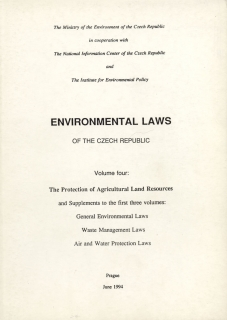 Environmental laws of the Czech republic - Environmentální zákony ČR (anglicky)